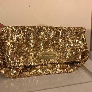 Victoria's Secret Gold Sequin Clutch Evening Bag